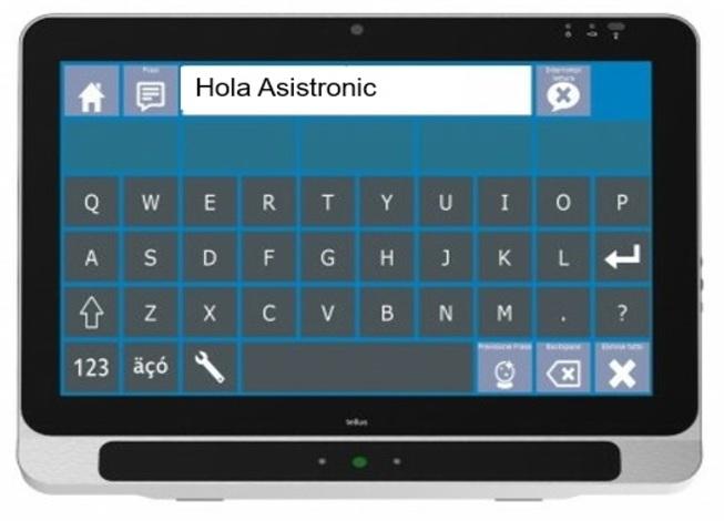 Comunicador Tobii I15 de seguimiento ocular colombia para usuarios con ELA y discapacitados