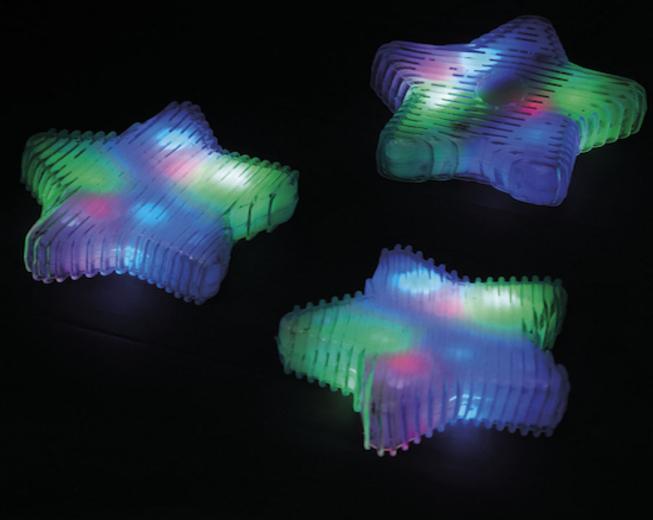 Luz de estrella multicolor sensorial apretujada trastorno del espectro autista