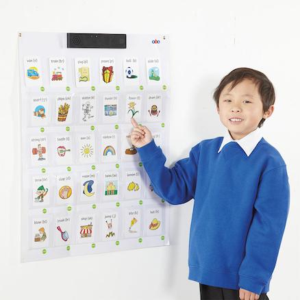 Muro interactivo parlante grabable desarrollo de lenguaje