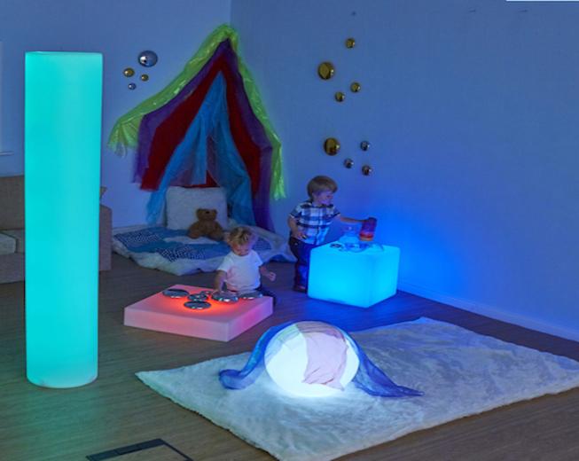 Tubo de cilindro sensorial de luz sensorial para trastornos sensoriales
